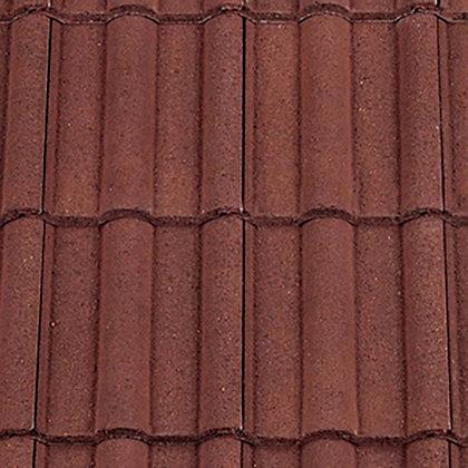 Redland Double Roman Concrete Tile 418mm x 330mm Antique Red