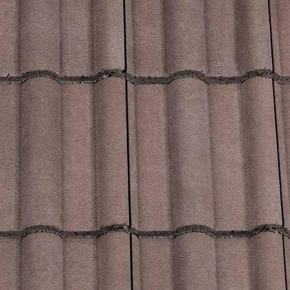 Redland Double Roman Concrete Tile 418mm x 330mm Tudor Brown