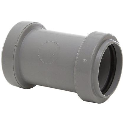Pushfit Waste Straight Connector Grey 40mm
