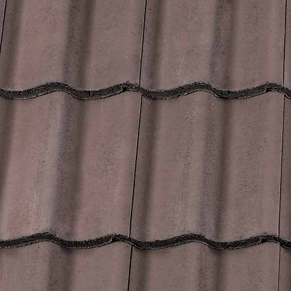 Redland Grovebury Concrete Tile 418mm x 332mm Tudor Brown