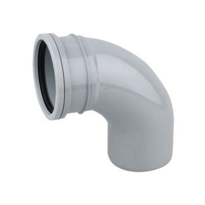 Pushfit Single Socket 87.5 Degree Bend Grey