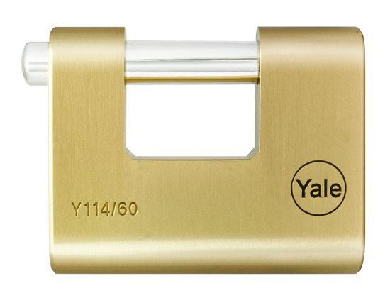 Yale Y114 Brass Shutter Padlock