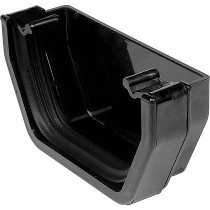 Square Rainwater 112mm Gutter External Stop End Black