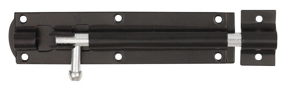 Straight Tower Bolt Black 152mm