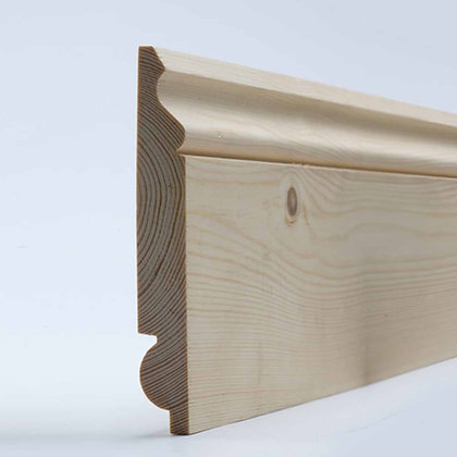 Softwood Reversible Torus / Ogee Skirting Board 20mm x 120mm x 4.2m