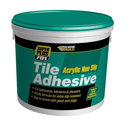 Everbuild 701 Acrylic Non Slip Tile Adhesive 7.5kg