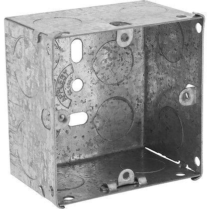 Appleby 1G Galvanised Flush Back Box 47mm