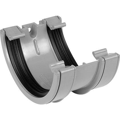 Half Round Rainwater 112mm Gutter Union Bracket Grey