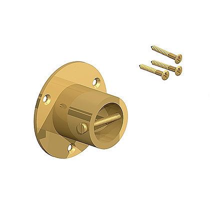 Fencemate 24mm Brass Rope End Plate Twin Pack