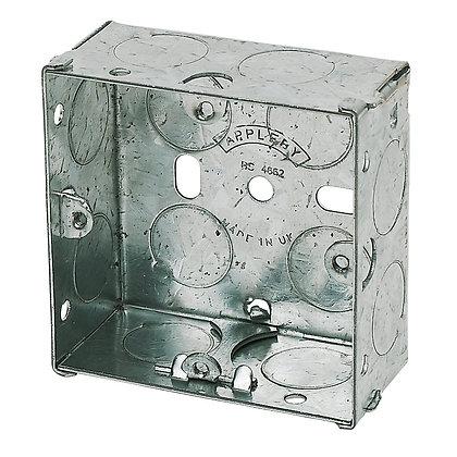 Appleby 1G Galvanised Flush Back Box 35mm