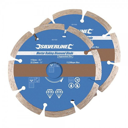 Mortar Raking Diamond Disc 2 Pack 115mm