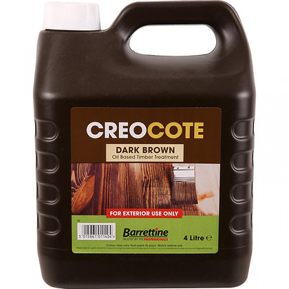 Barrettine Creocote Oil Based Timber Treatment 4L Dark