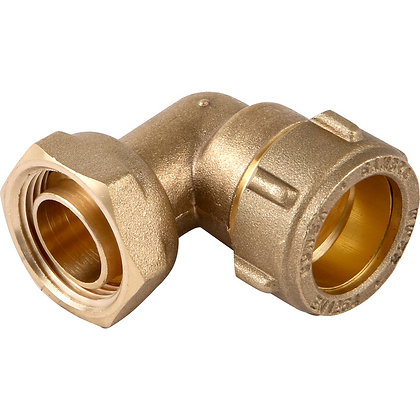 Compression Fit Tap Connector Bent 15mm x1/2""