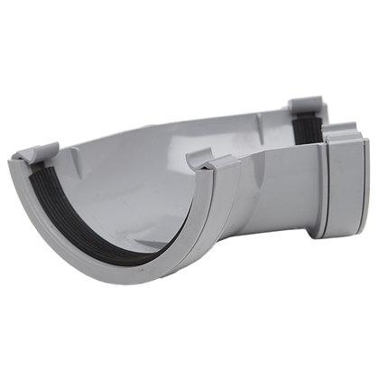 Half Round Rainwater 112mm Gutter 135 Degree Angle Grey