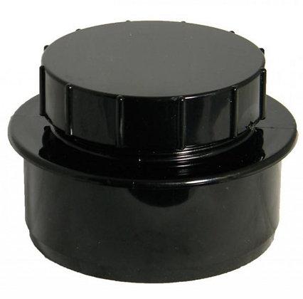 Pushfit 110mm Screwed Access Cap Black