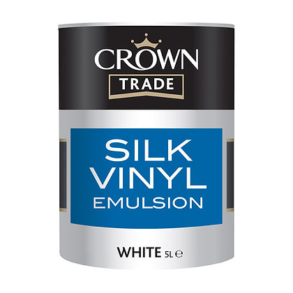 Crown Trade Silk Vinyl Emulsion Magnolia 5L