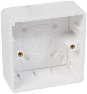 Legrand Synergy 1G Surface Mounting White Plastic Box 35mm 736406