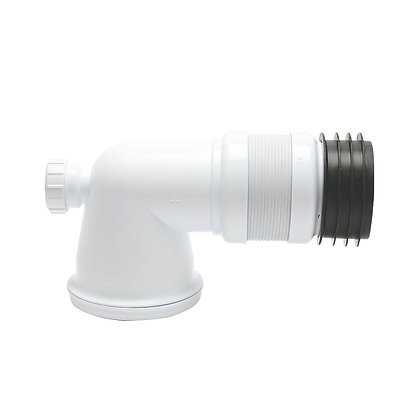 Pan Connector Flexi 90deg with 40mm Inlet
