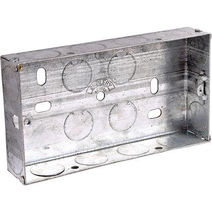 Appleby 2G Galvanised Flush Back Box 25mm