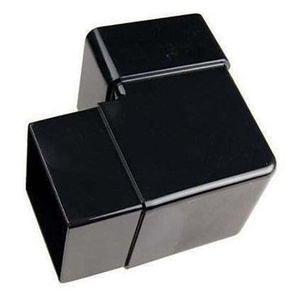 Square 65mm Rainwater Downpipe 90 Degree Bend Black