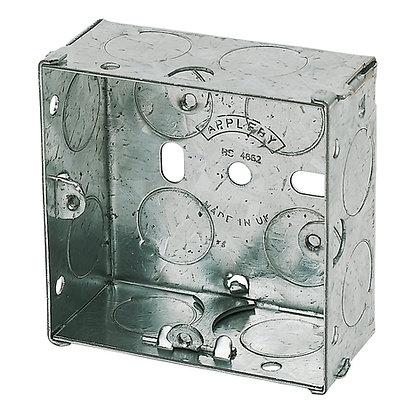 Appleby 1G Galvanised Flush Back Box 25mm