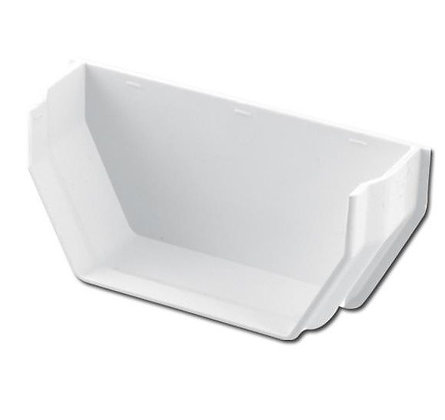 Square Rainwater 112mm Gutter Internal Stop End White