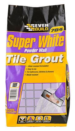 Everbuild 704 Powder Wall Tile Grout Super White 0.5kg