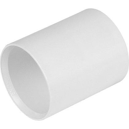 Solvent Weld Straight Coupler White 40mm