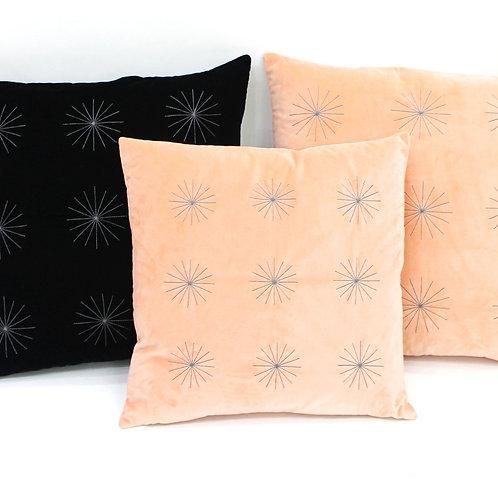 Starburst Velvet Throw Pillow