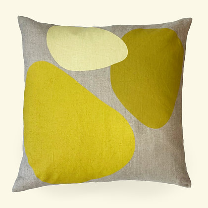 Bubble Throw Pillow · Yellow