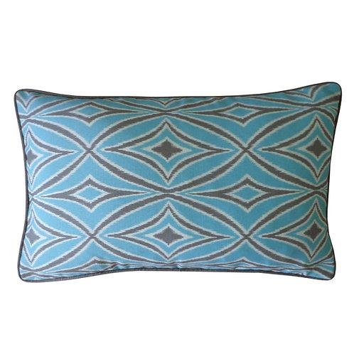 Ceny Print Outdoor Lumbar Pillow