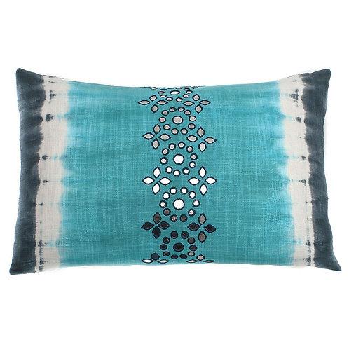 Sheesha Embellished Cotton Lumbar Pillow