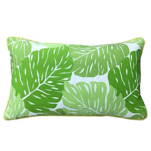 Leaves Print Outdoor Lumbar Pillow