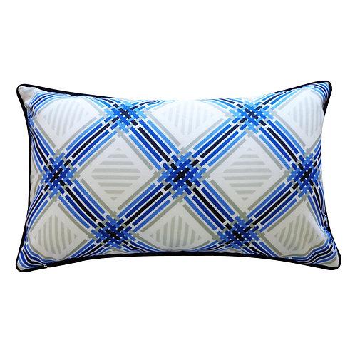 Argyle Print Outdoor Lumbar Pillow