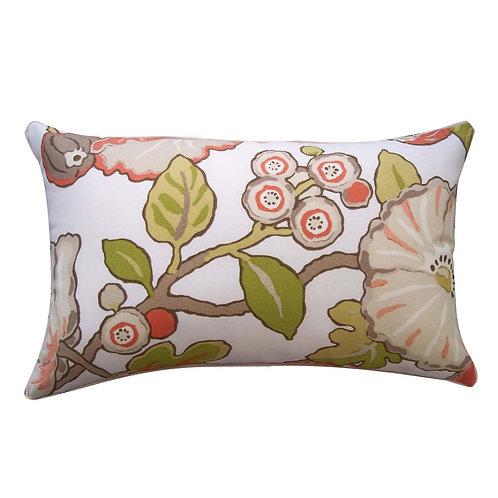 Floral Print Outdoor Lumbar Pillow