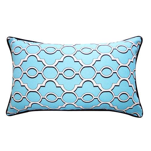 Viceroy Print Outdoor Lumbar Pillow