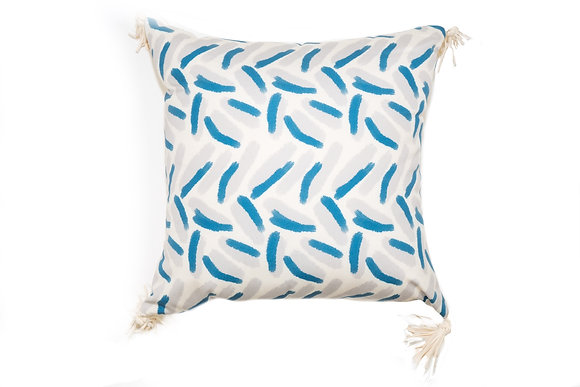 Confetti Turquoise Outdoor Pillow