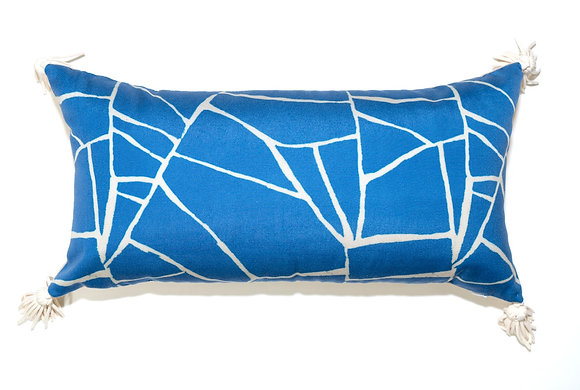 Blue Web Outdoor Pillow
