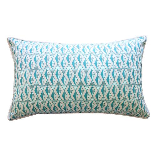 Graphic Print Outdoor Lumbar Pillow
