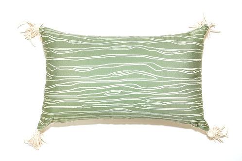 Green Trunk Outdoor Pillow