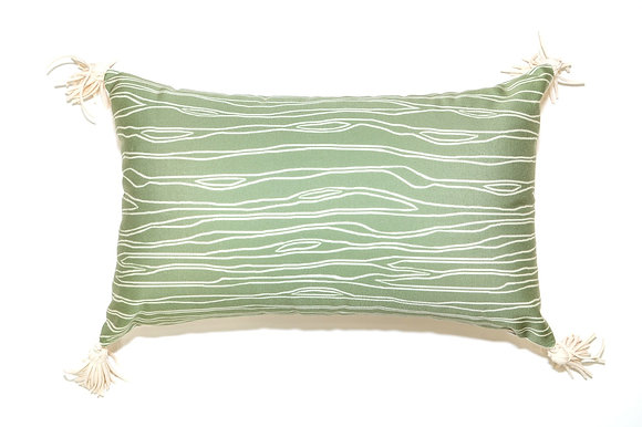 Green Trunk Outdoor Pillow