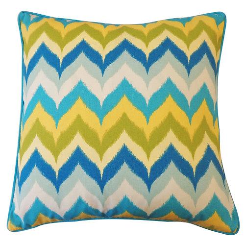 Drip Print Outdoor Throw Pillow