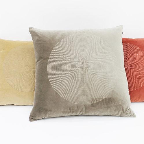 Spiral Velvet Throw Pillow