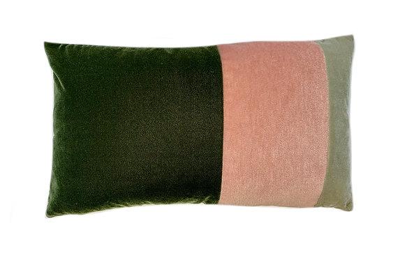 Velvet Rainbow Combination Green Pink