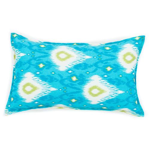 Ikat Print Outdoor Lumbar Pillow