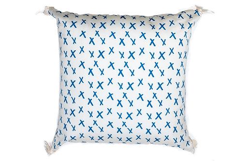 Blue XoXo Outdoor Pillow