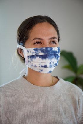 FOLDING MASK Blue Tie dye