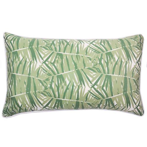 Fern Leaves Print Outdoor Lumbar Pillow