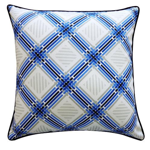 Argyle Print Outdoor Throw Pillow