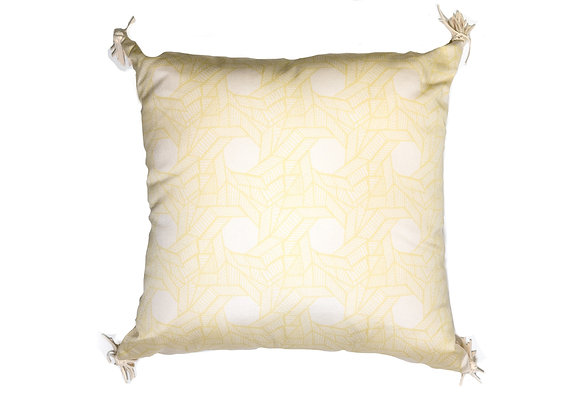 Yellow Octagon Outdoor Pillow